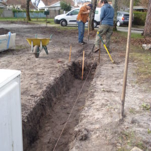 Préparation à la pose d'une clôture