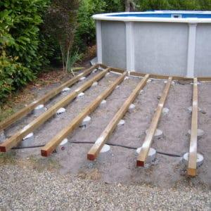 Réalisation de terrasse pour piscine hors sol